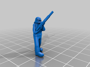 Hosytian Guardsman, Standing Reloading