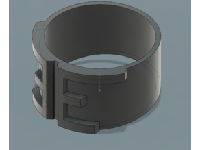 Ring with E shape