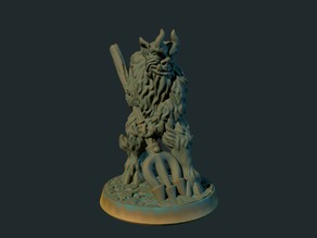 Devil with pitchfork  (supportless, FDM-friendly)