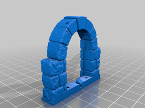 OpenForge 2.0 Dungeon Stone Arched Doors for Mid-High Walls