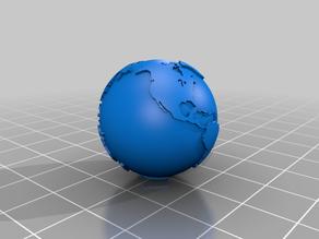 One Inch Hollow Earth Globe