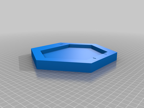 Wall mounted foldable modular hexagon shelf (print in place)