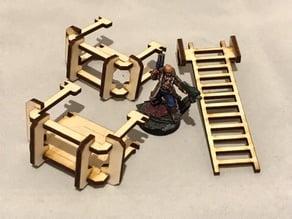 Ladder Gantries 3mm laser cut MDF/PLY