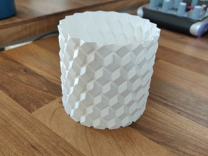 Cylinder with protruding squares