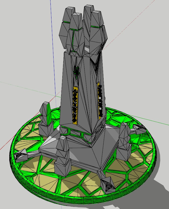 Undead Obelisk with Gauss Cannon