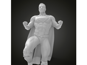 SuperMan on pose stand