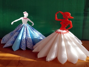 "Napkin holder ""Miss and ballerina"" remix"
