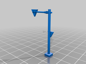 N Scale - Overhead Hanging Street Sign (Stop) 1:160