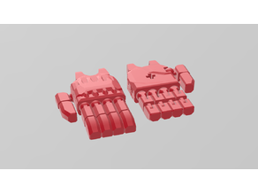 Bionicle articulated hand with bars