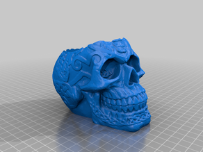 Celtic Skull With Deeper Hole