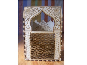 Arabic stationary pen holder storage organizer lasercut