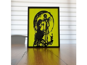 Nightmare Before Christmas Silhouette Art