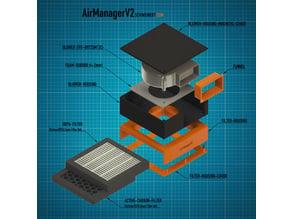 AirManagerV2 recirculating air filter for 3d printing enclosure
