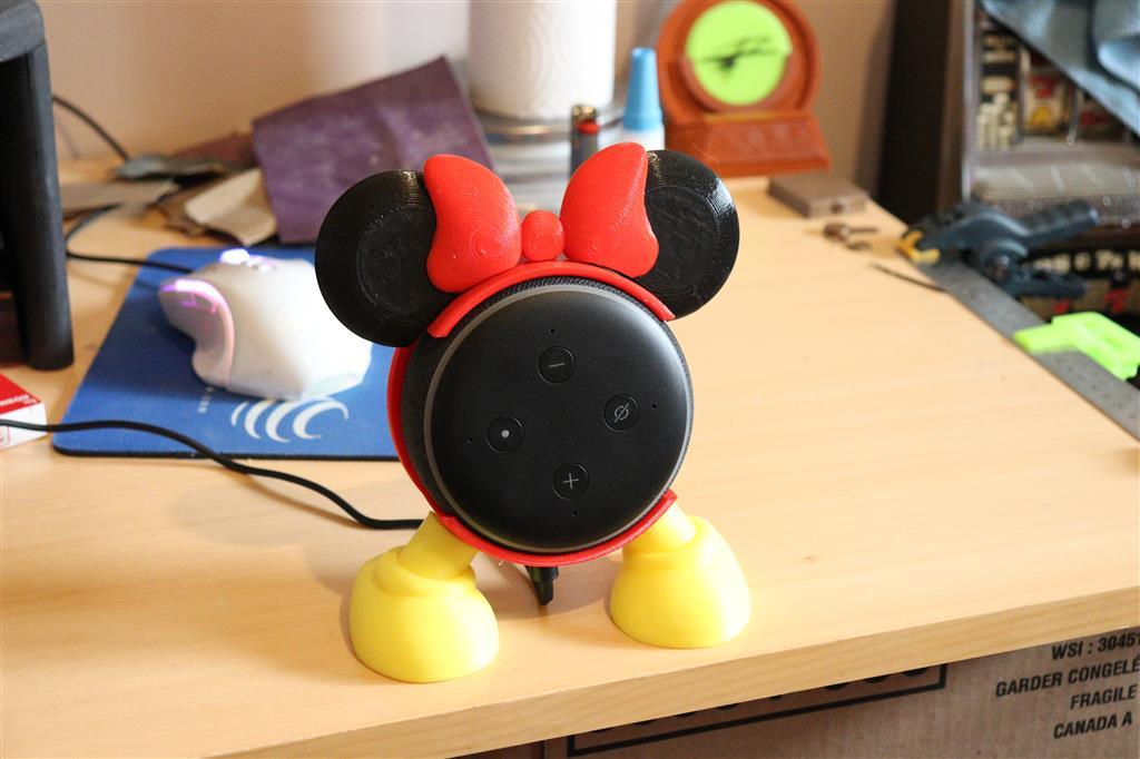 Mickey/Minnie Echo Dot (3rd Gen) Stand (Multicolour print)