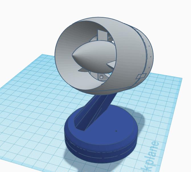 Jet Engine Desk Fan 40mm x 40mm x 28mm