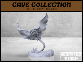 Manta Cave Bat - Version 2 - Tabletop Miniature