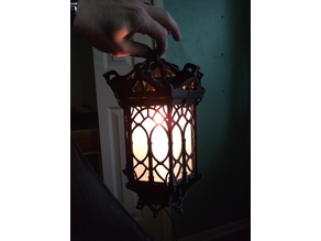 Gothic Lantern top with light cutout