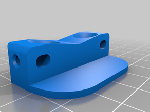 Adjustable Ender Z-Axis motor mount remix, customizable thickness and tail length.