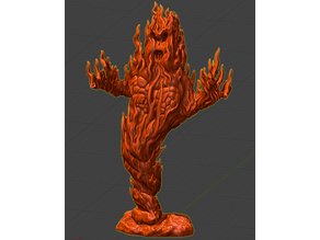 Fire Elemental - with Stone Base x 2