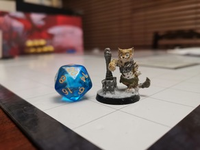 Tabaxi Grimalkin Barbarian with Maul