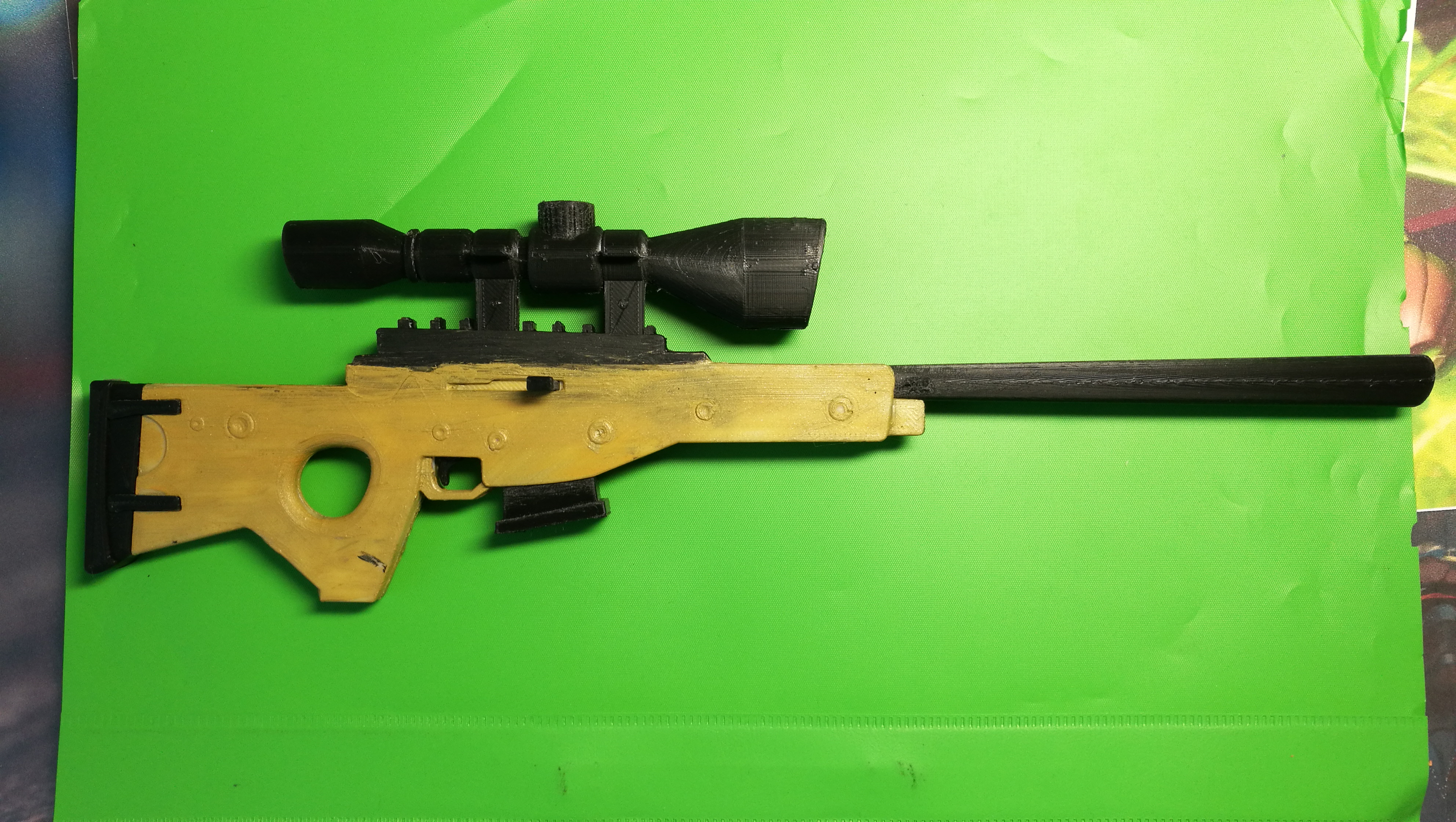 Makes Of 3d Printable Fortnite Bolt Action Sniper Rifle By Iminfinnity Thingiverse
