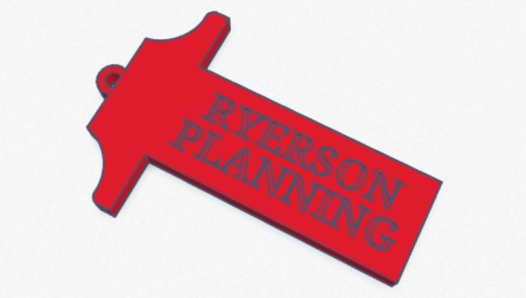 Ryerson Urban Planning T-Square Keychain