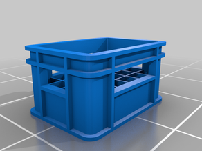 Plastic crate for bottles 4 (scale 1/35)