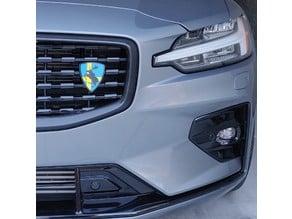 Volvo grill mount for Prancing Moose emblem