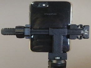 Vertical phone holder with tripod mount - accessory