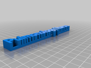 npMy Customized 3D name plate