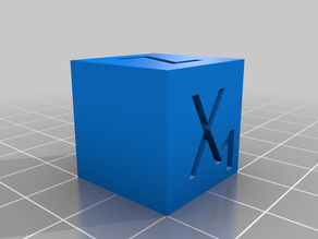 20 x 20mm Delta Printer Test Cube - Shows Correct X - Y - Z