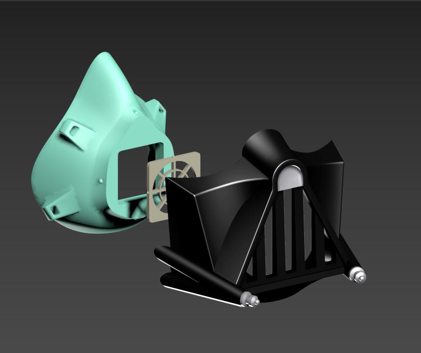 COVID-19 Mask Cap, Darth Vader Edition