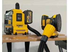 DeWalt™ AirLock™ compatible twist-lock dust collector fitting