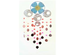 [Mathematical Art][Laser Cutting] Delaunay Triangulation Dream Catcher Design