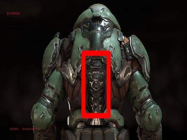 Doom Slayer Spine By Johnnydarling Thingiverse