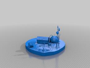 nuclear powered house - post-apoc - terrain