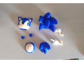 Sonic printable in parts (almost) without support