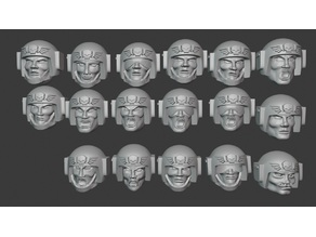 Angry Spaceguards Heads clean