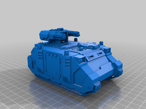 S.P.R.U.E. space marine tanks Rhino chassis WH40K scale