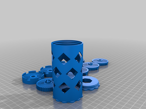 Integrated Auto-Rewind Spool Holder for Prusa Printer Enclosure V2