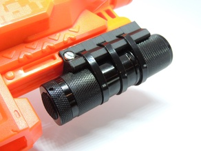 Simple Nerf Rail Torch Mount
