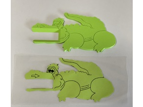 Lesekrokodil mit Box / Reading Crocodile with box