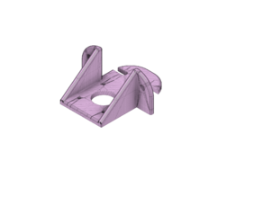 Z Motor Mount for 4040 Profile rounded & slotted Remix