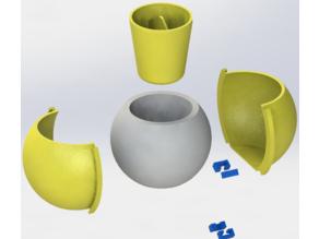 Spherical Concrete Pot Mold 8x6cm