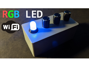 RGB LED case with potentiometers and switch