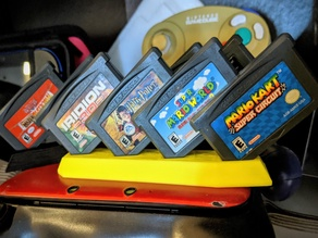 Slanted Cart Stand for GBA Cartridges