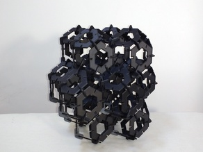 Press fit truncated octahedral honeycomb