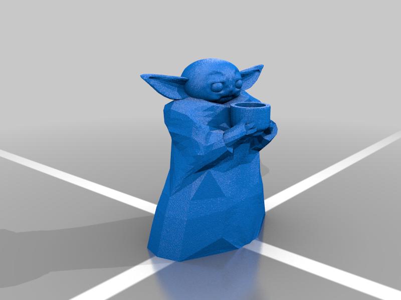Baby Yoda Soup No Supports (actually)