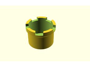 Castle capsule holder