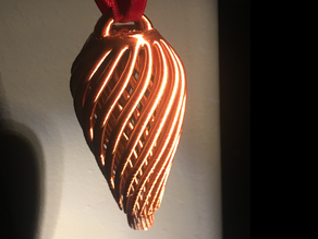 Double Spiral Christmas Ornament